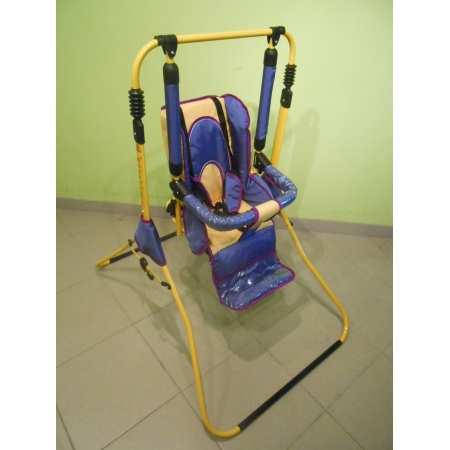 Happiness - детская напольная кресло - качеля с подножкой, откидной спинкой, мягким бампером и ремнями безопасности.