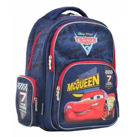 """Рюкзак школьный S-25 Cars (МакКуин) -  легкий, мягкий, ортопедический, школьный рюкзак украинского бренда  """"1 Вересня"""""""