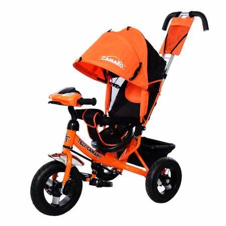 Camaro Plus - модель детского трехколесного велосипеда-коляски с усиленной рамой и накачными колесами