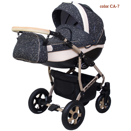Carmela - коляска 2 в 1 с большой утепленной люлькой и прогулочным блоком