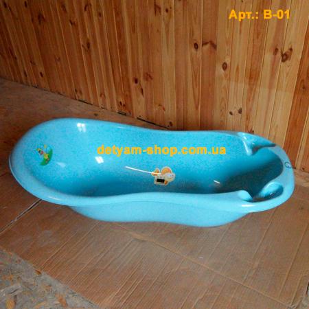 Ванночка - Волна со сливом и индикатором температуры, 102см
