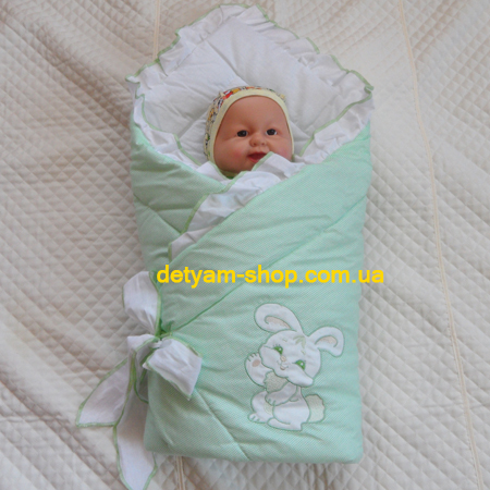 Зайчик - конверт -одеяло с вышивкой